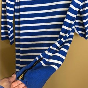 Mid sleeve nautical J Crew cotton shift dress
